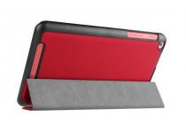 """Фирменный умный чехол самый тонкий в мире для планшета Acer One 8 B1-820/821/B1-830 """"Il Sottile"""" красный кожаный"""