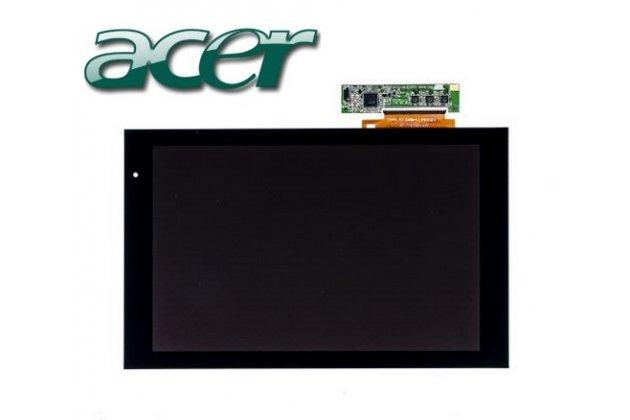 Фирменный LCD-ЖК-сенсорный дисплей-экран-стекло с тачскрином на планшет Acer Iconia Tab A500/A501 черный и инструменты для вскрытия + гарантия