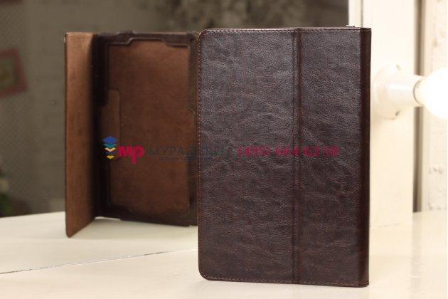 """Фирменный чехол-обложка для Acer Iconia Tab W510/W511 коричневый кожаный """"Премиум"""""""