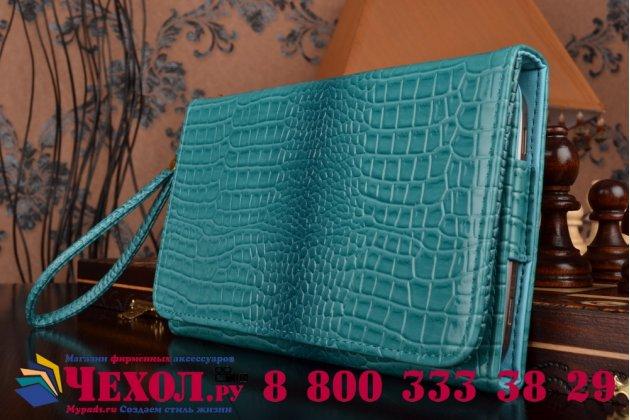 Фирменный роскошный эксклюзивный чехол-клатч/портмоне/сумочка/кошелек из лаковой кожи крокодила для планшета Acer Iconia Tab A1-860. Только в нашем магазине. Количество ограничено.