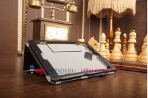 """Фирменный чехол обложка для Acer Iconia Tab A1-830/A1-831 с визитницей и держателем для руки черный натуральная кожа """"Prestige"""" Италия"""