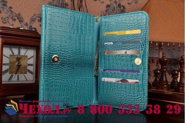 Фирменный роскошный эксклюзивный чехол-клатч/портмоне/сумочка/кошелек из лаковой кожи крокодила для планшета Acer Iconia Talk 7 B1-723. Только в нашем магазине. Количество ограничено.