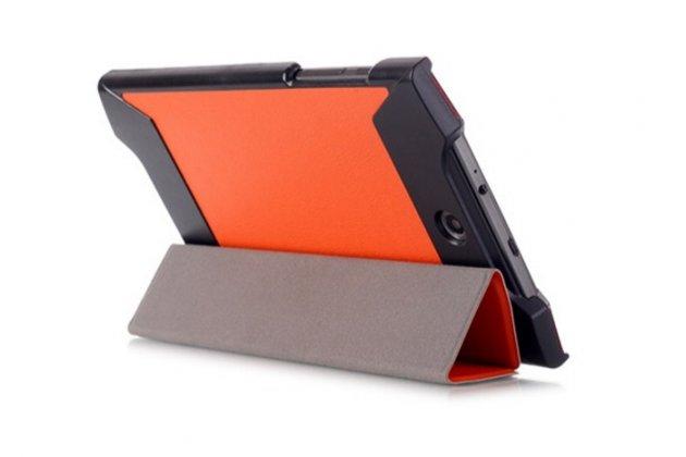 """Фирменный умный тонкий легкий чехол для Acer Predator 8 GT-810 """"Il Sottile"""" оранжевый пластиковый"""
