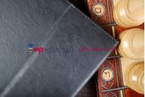 """Фирменный оригинальный чехол обложка для Acer Aspire Switch 10 (SW5-011) с визитницей и держателем для руки черный натуральная кожа """"Prestige"""" Италия"""