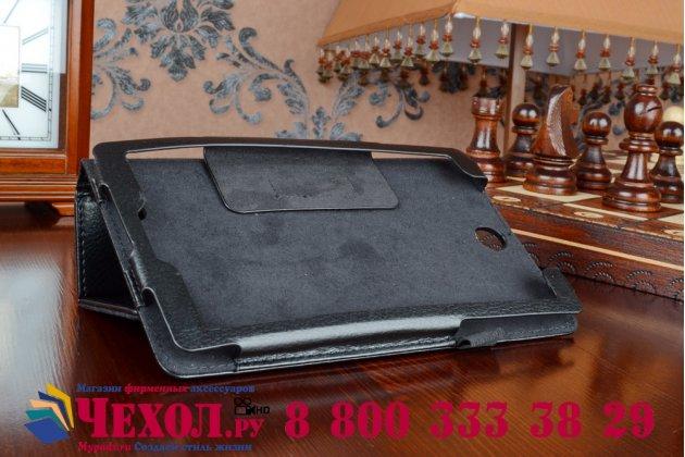 Фирменный чехол обложка для Acer Iconia Tab One X 7 B1-740/B1-741 черный кожаный
