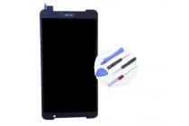Фирменный оригинальный сенсорный дисплей-экран-стекло с тачскрином на планшета Acer Iconia Talk S A1-724 черный и инструменты для вскрытия + гарантия