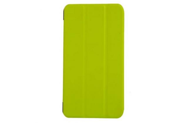 """Фирменный умный чехол-книжка самый тонкий в мире для Acer Iconia Talk S A1-724  """"Il Sottile"""" зеленый кожаный"""