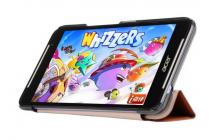 """Фирменный умный чехол самый тонкий в мире для планшета Acer Iconia Talk S A1-724 """"Il Sottile"""" коричневый кожаный"""