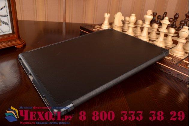 """Фирменный умный чехол самый тонкий в мире для планшета iPad Pro 12.9"""" """"Il Sottile"""" черный кожаный"""