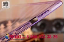 Фирменная ультра-тонкая полимерная из мягкого качественного силикона задняя панель-чехол-накладка для iPad mini 4 фиолетовая