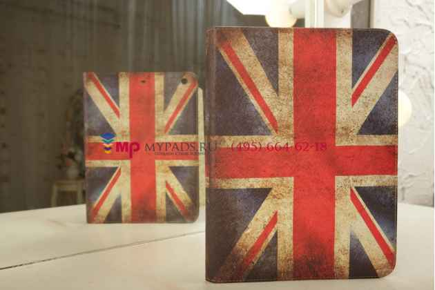 """Фирменный чехол-кейс для iPad Air """"тематика ретро Британский флаг"""""""