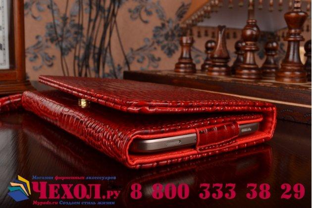 Фирменный роскошный эксклюзивный чехол-клатч/портмоне/сумочка/кошелек из лаковой кожи крокодила для планшетов Acer Aspire Switch 11 / 11 V . Только в нашем магазине. Количество ограничено.