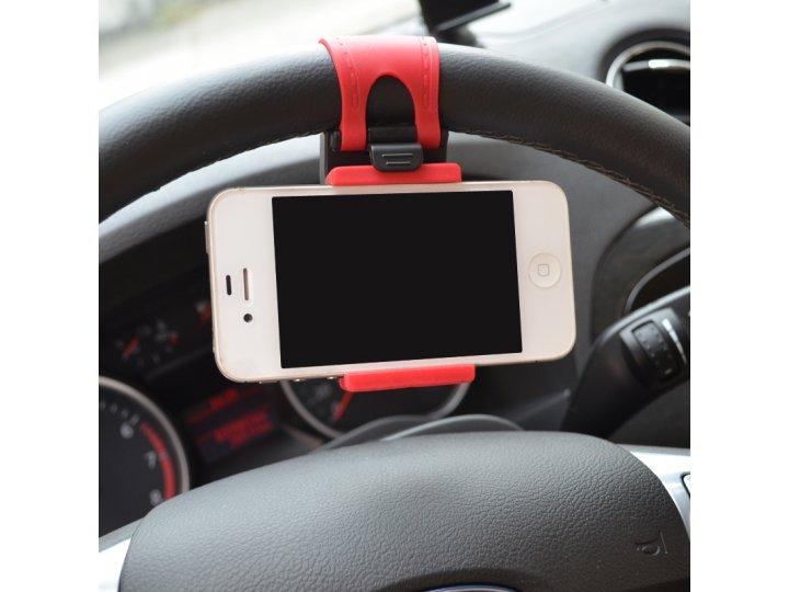 Фирменный универсальный удобный держатель-крепление на руль подходит под все телефоны шириной 67мм