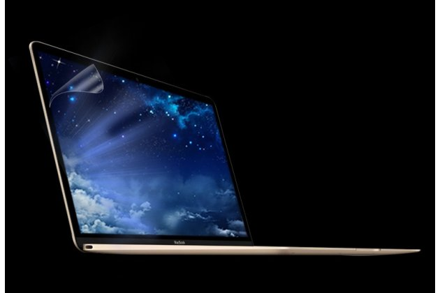 Фирменная оригинальная защитная пленка для ноутбука Apple MacBook 12 Early 2015 / 2016 / Mid 2017 ( A1534 / A1527) глянцевая