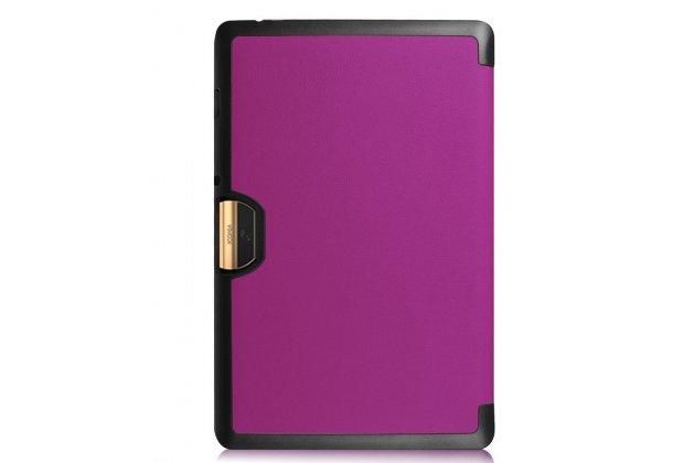 Фирменный умный чехол самый тонкий в мире для Acer Iconia One 10 B3-A30 iL Sottile фиолетовый пластиковый Италия