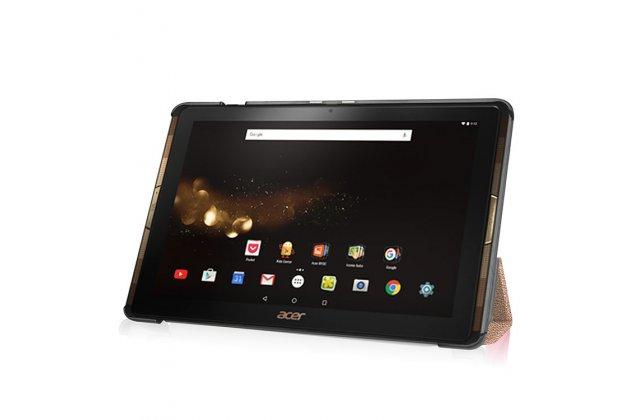 Фирменный умный чехол самый тонкий в мире для Acer Iconia One 10 B3-A30 iL Sottile золотой пластиковый Италия