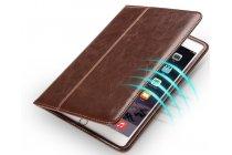 Фирменный умный качественный элитный премиальный чехол бизнес класса для планшета iPad Pro 12.9 из качественной импортной кожи коричневый