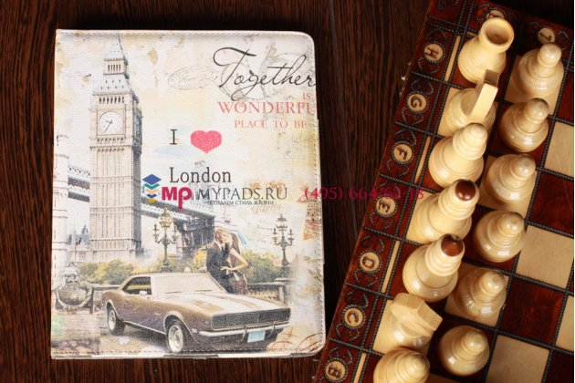 """Чехол для iPad 2/3/4 """"тематика я люблю Лондон"""" №1"""
