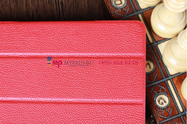 Чехол-обложка для iPad Mini Smart Case красный кожаный