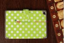Чехол в крапинку под далматинца для Apple iPad Mini бело-зеленый