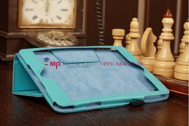 Нежный голубой цвет чехол-обложка для Apple iPad Mini кожаный