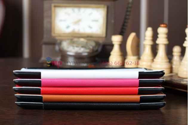 Чехол-обложка для iPad2/new iPad 3 SLIM розовый кожаный